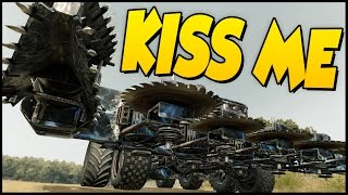 Crossout ➤ BEST VEHICLE -  Let Me Kiss You! - Melee Build Buzzsaws & Augers [Crossout Gameplay]