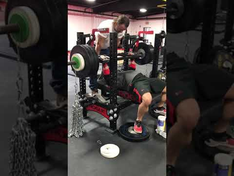 Max Effort Block 3, Week 2, PR 360Lb Box Bar Press w/72Lb Chain