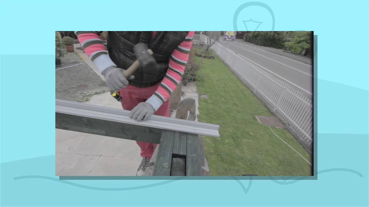 Pergola copertura con lastre in policarbonato trasparente for Pergola policarbonato