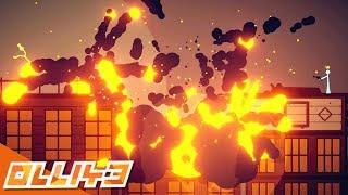 SURVIVING MEGA EXPLODING BARRELS? (Stick Fight: The Game)