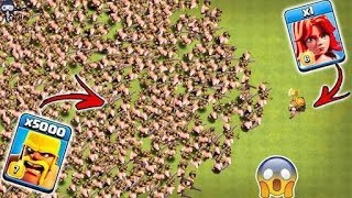 1 Max Valkyrie vs 5000 Max Barbarian Clash of Clans | 1 Valk vs Barbarian Clash of Clans Hack
