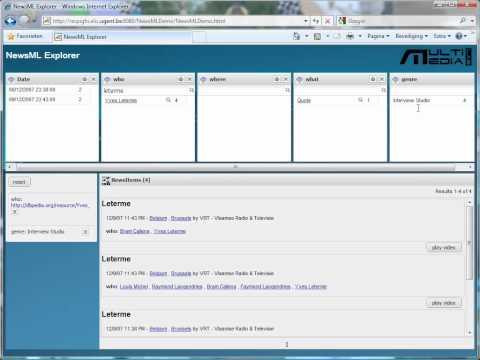 NinSuna Faceted NewsML Browser