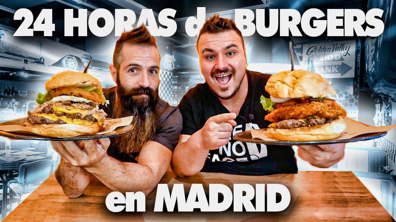 24 HORAS Probando las MEJORES BURGER de MADRID 2!¿Cúal nos GUSTO más?