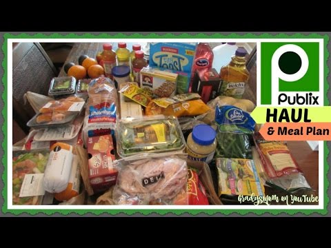Weekly Grocery  Haul from Publix | Meal Plan for the week | GradysMom