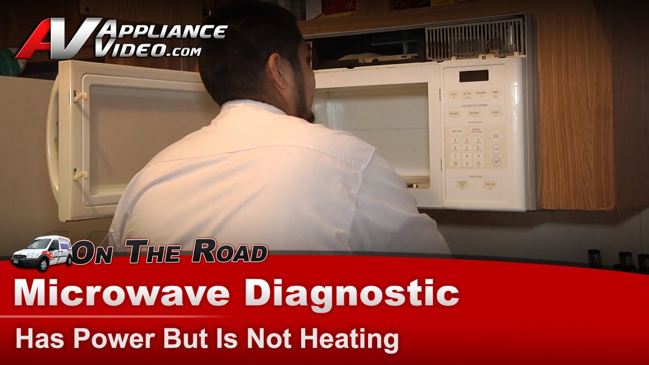 microwave diagnostic has power not heating ge general electric hotpoint rca jdm1630wb004