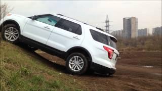 Toyota Land Cruiser Prado vs Ford Explorer: диагональное вывешивание