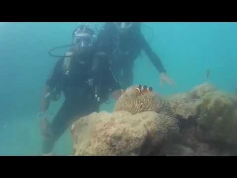 Scuba-diving at Havelock beach in Andaman 12 feet deep