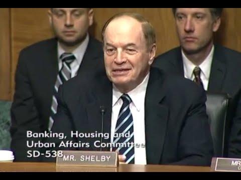 Market Crash - Mr. Shelby - Feb 6th - Senate on Banking (bitcoin, investing & crypto assets)
