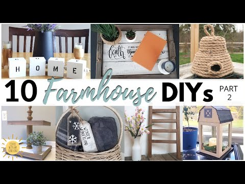 Top 10 FARMHOUSE DECOR DIYs | BUDGET FRIENDLY CRAFT IDEAS | DOLLAR TREE & THRIFT