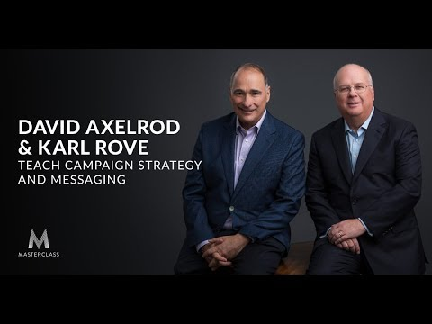 David Axelrod and Karl Rove Teach Campaign Strategy and Messaging | Official Trailer