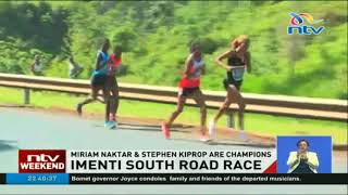 Miriam Naktar & Stephen Kiprop are Champions of the Imenti South road race