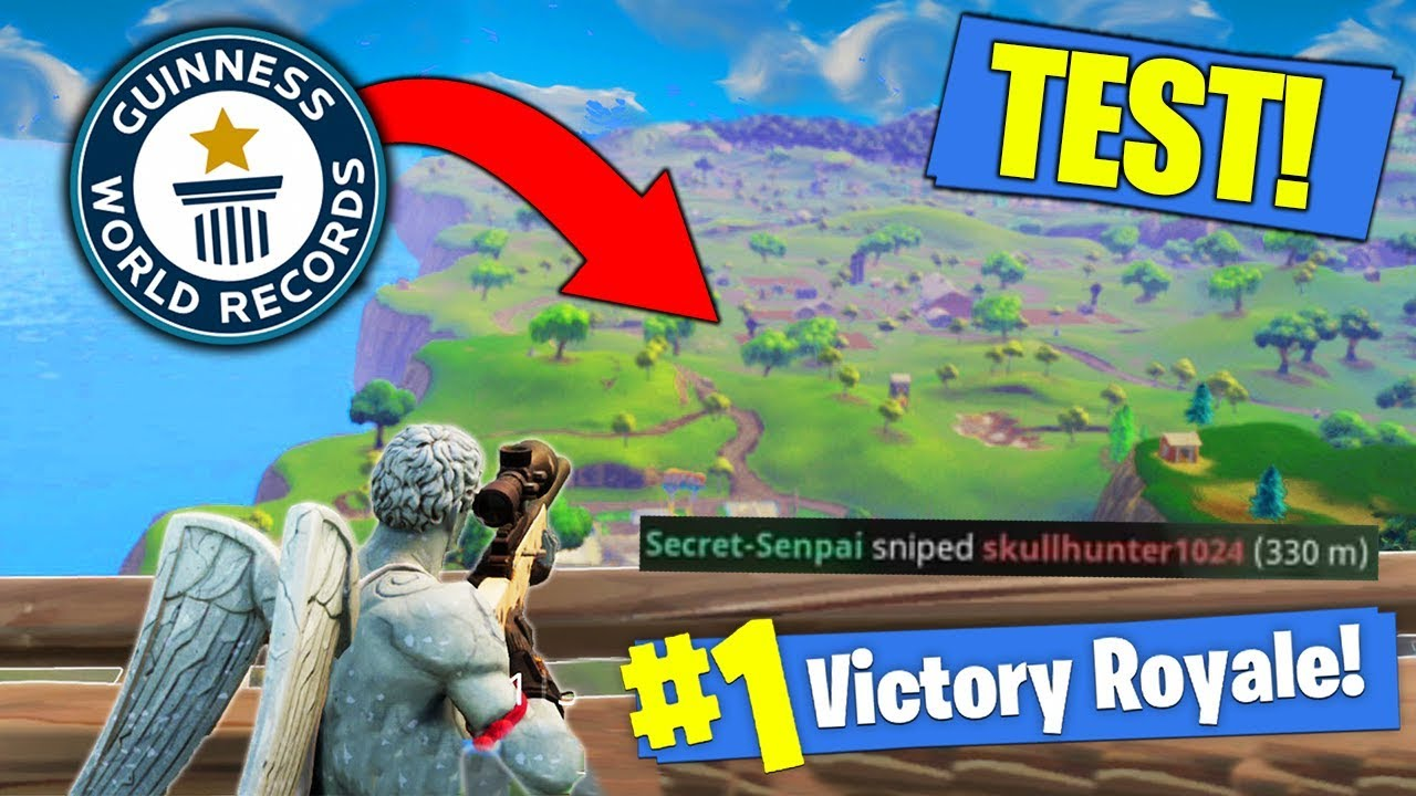 what is the longest possible snipe in fortnite test - whats the longest snipe in fortnite