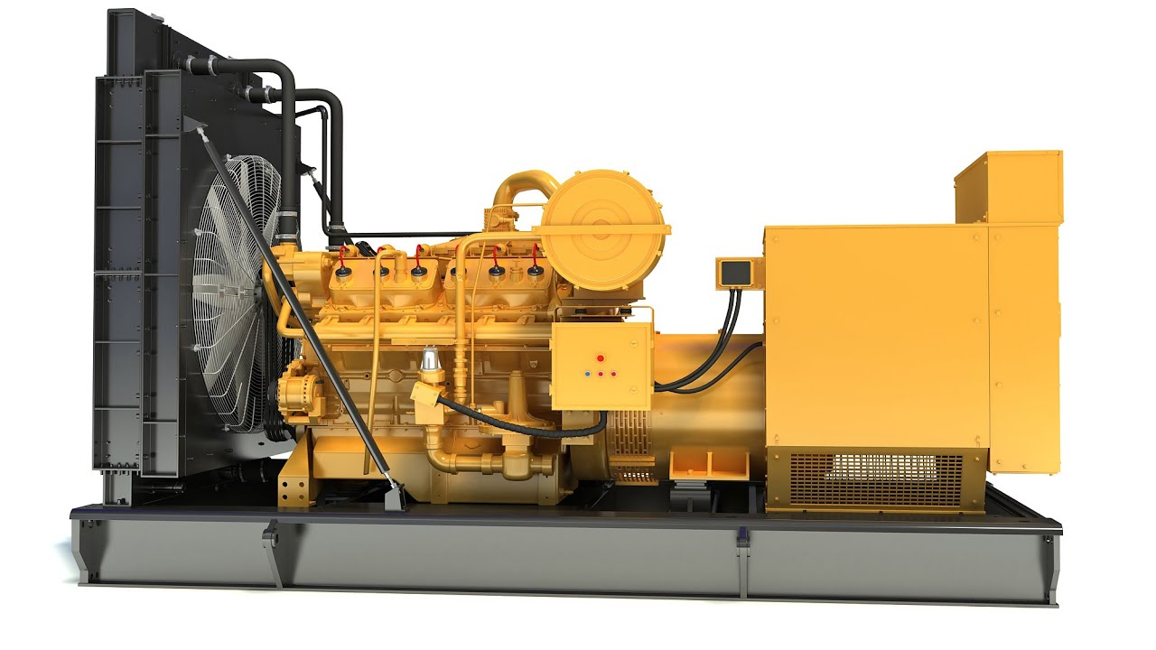 Gas Generator Engine 3D Model