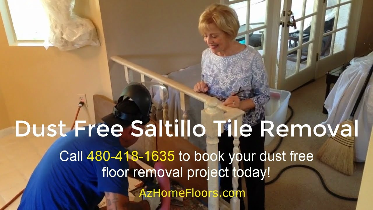 dust free saltillo tile removal with