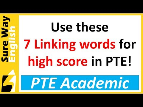 Use these 7 linking words for a High Score in PTE | PTE Exam Advice
