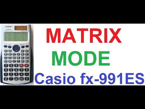 Casio fx-991ES Calculator Tutorial #6: Matrix Calculations Mode