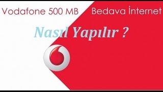 Vodafone Bedava İnternet Nasıl Yapılır ? (Haftalık 500MB)
