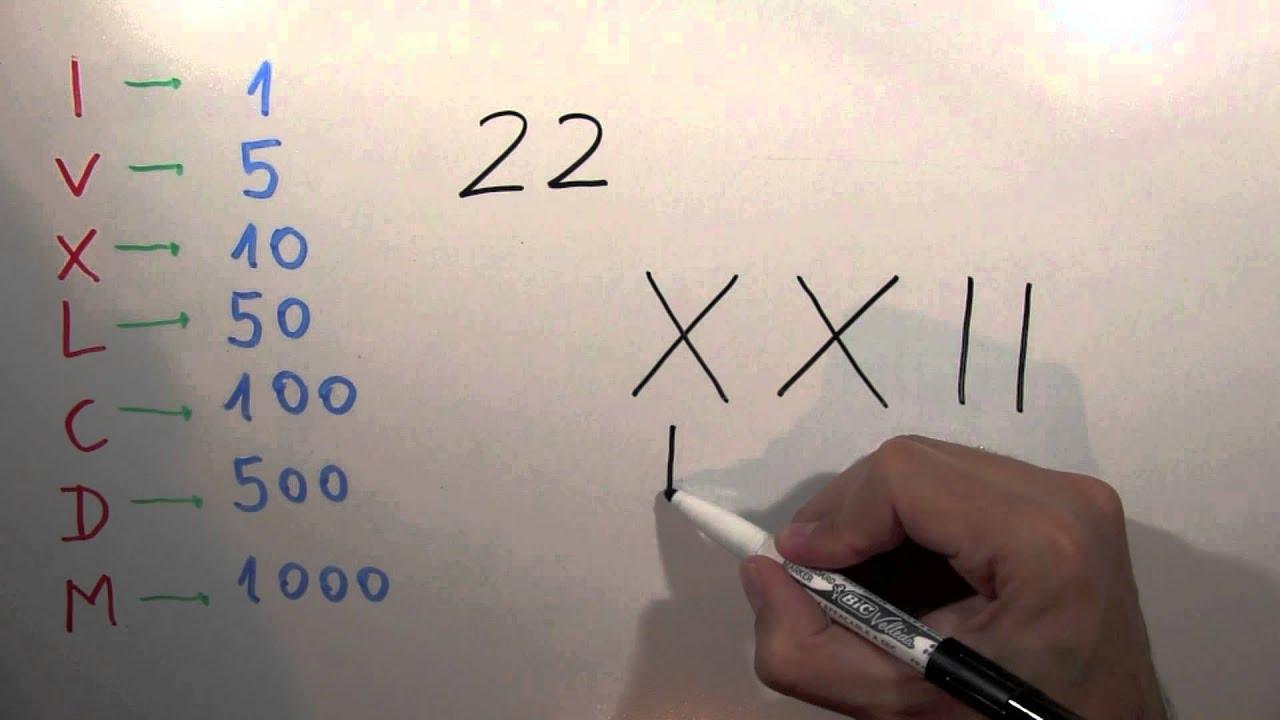 Cómo Se Escribe 22 Con Números Romanos Número Veintidós Xxii Youtube