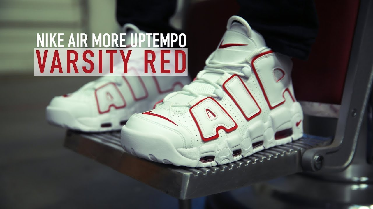 15732aaa0765 FIRST LOOK: Nike Air More Uptempo 'Varsity Red' | SHIEKH - YouTube