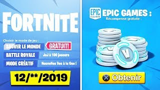 THE OFFICIAL DATE of SAUVER THE FREE WORLD for ALL PLAYERS - 2000 V-BUCKS OFFERT on FORTNITE