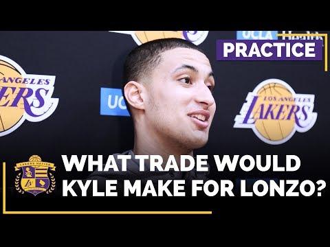 Kyle Kuzma Jokes About Trading Lonzo Ball