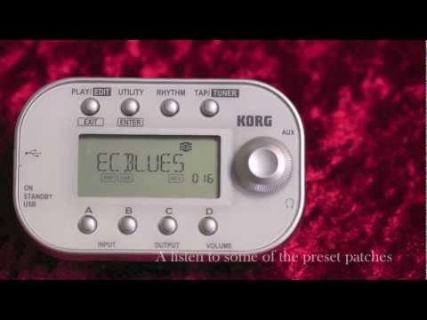 Korg Pandora Mini Personal Guitar and Bass FX Processor Demo - Nevada Music UK