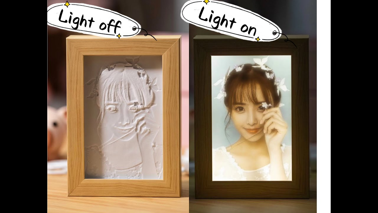 3D printed Photo Lamp,perfect gift to capture stunning memories