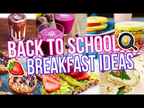 5 BACK TO SCHOOL BREAKFAST IDEAS! Healthy + Easy!
