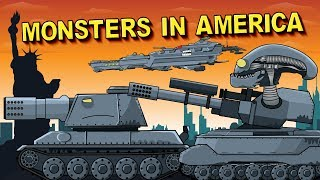 Monsters in America EP1 Invasion Had Begun  - Cartoons about tanks