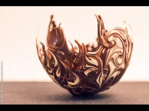 zweifarbige Schokoladenschale selbermachen