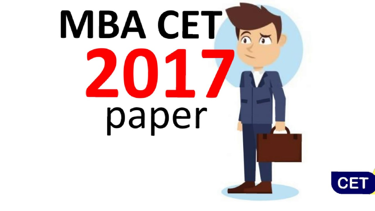 MBA CET 2017 paper  Must solve if serious about CET
