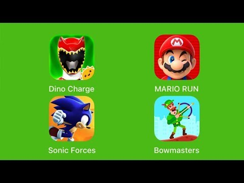 Power rangers dino charge super mario run sonic forces bowmasters ios youtube - Sonic power rangers dino charge ...