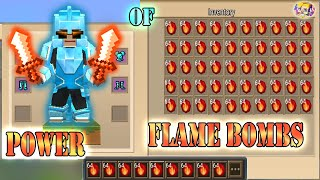 POWER OF 999+ FLAME BOMBS In Bed Wars | Blockman Go Gameplay (Android , iOS)