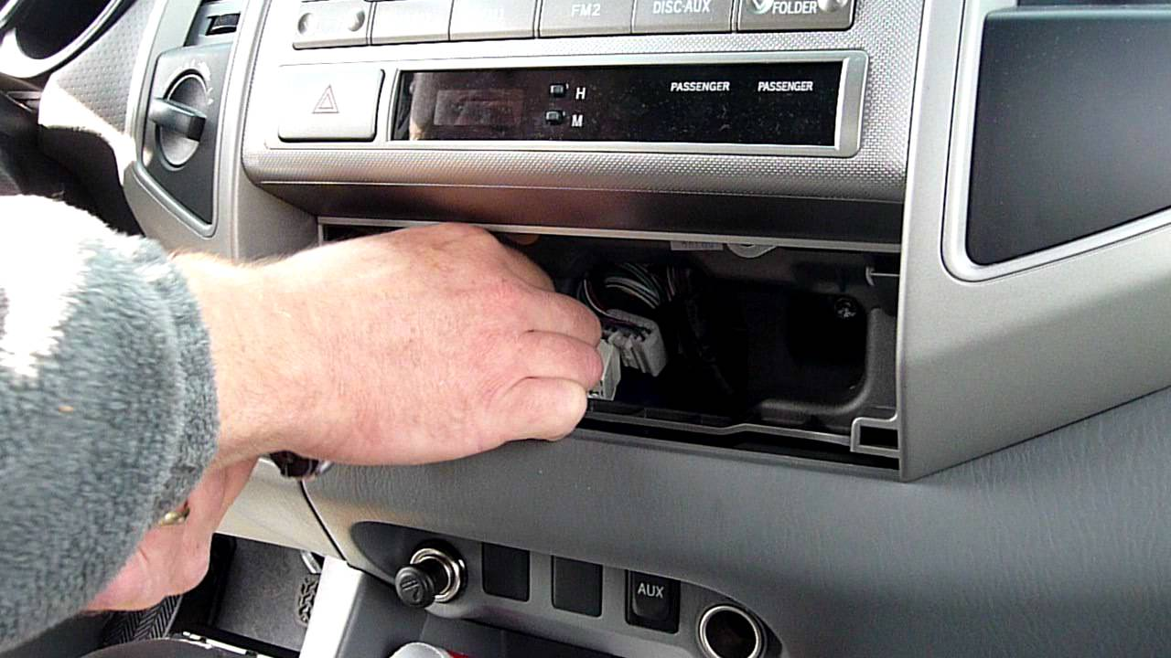 part 1 toyota tacoma car stereo removal youtube. Black Bedroom Furniture Sets. Home Design Ideas