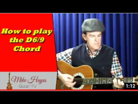 Guitar Chords: How To Play The D 6/9 Chord on Guitar - YouTube