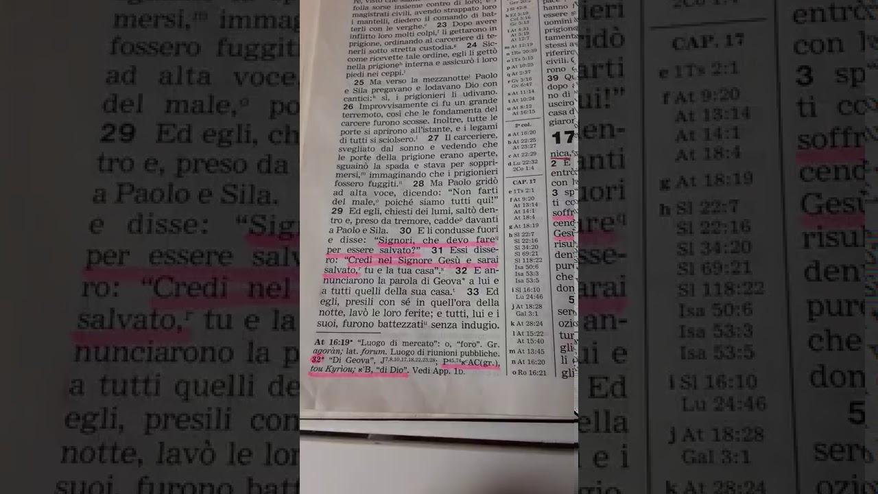 Atti 14:23 Grave manipolazione della Traduzione del Nuovo Mondo. In chi credevano i primi cristiani?
