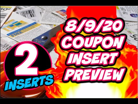 8/9/20 COUPON INSERT PREVIEW | 2 INSERTS 🔥 DIAL COUPON 😱