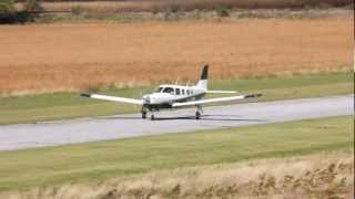 [HD] RVA 2012 Piper 32R-301T Saratoga II Décollage/Takeoff CSU3 Fly In 2012