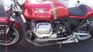 moto guzzi lemans 1000 cafe racer exhaust sound