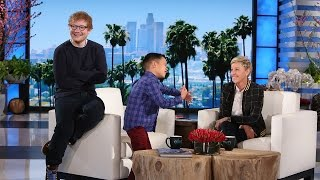 memorable moment kais ed sheeran surprise