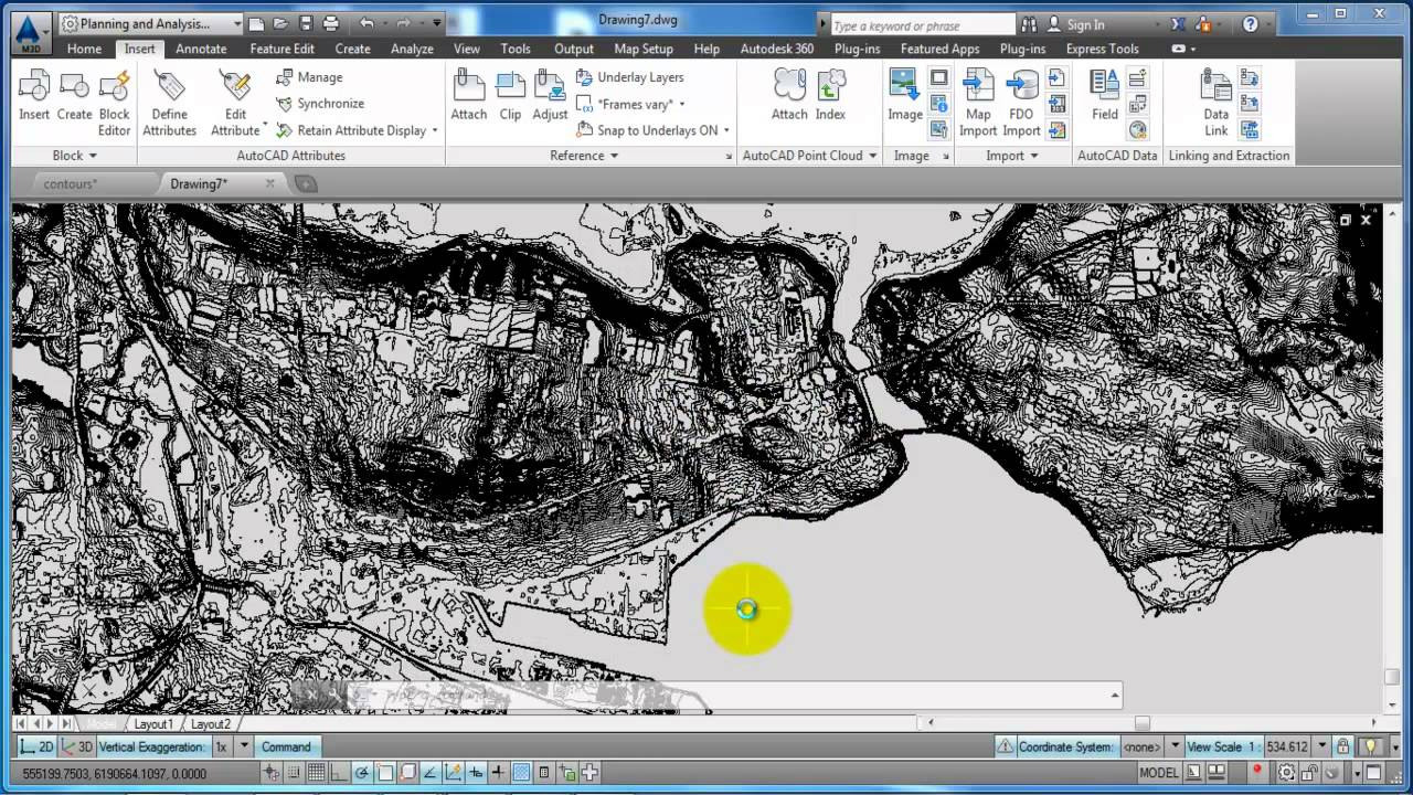 Autocad map 3dimport a shape file and edit drawing boundaries youtube gumiabroncs Gallery