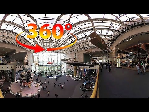 360 / VR 4K The National Air & Space Museum Tour w/ Spatial Audio - Washington DC - Part 2 of 4