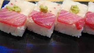 Osaka-style sushi  오사카식 참치회 상자…