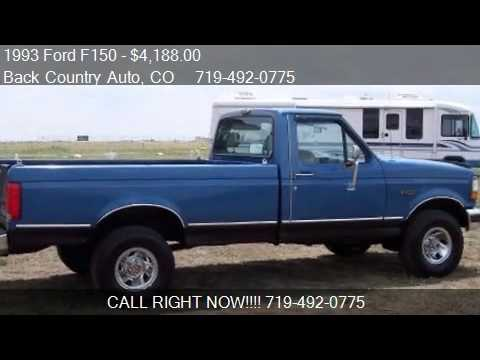1993 Ford F150 XL Reg. Cab Long Bed 4WD - for sale in Falcon