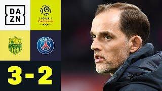 Thomas Tuchel vergibt dritten Meister-Matchball: Nantes - Paris Saint-Germain 3:2 | Ligue 1 | DAZN