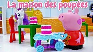 Peppa Pig en français: ouverture d'une pâtisserie. Vidéo pour enfants