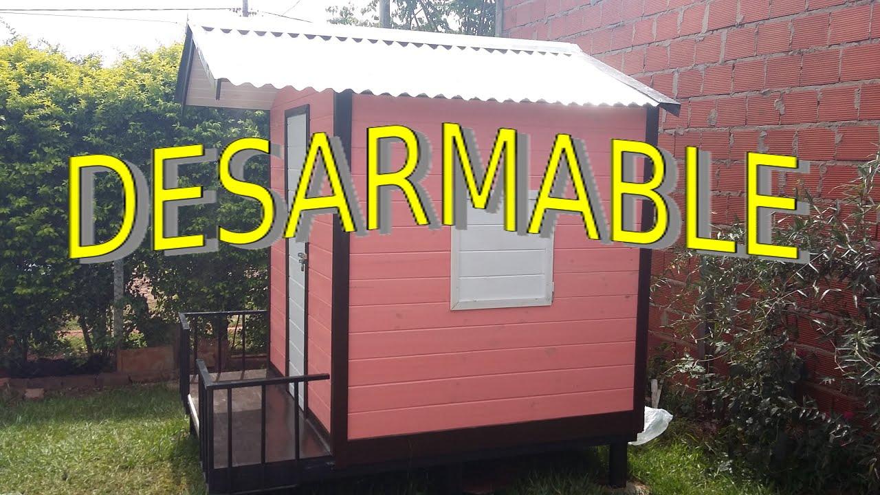 Casita para ni os sistema modular desarmable completo - Casas de madera para ninos ...