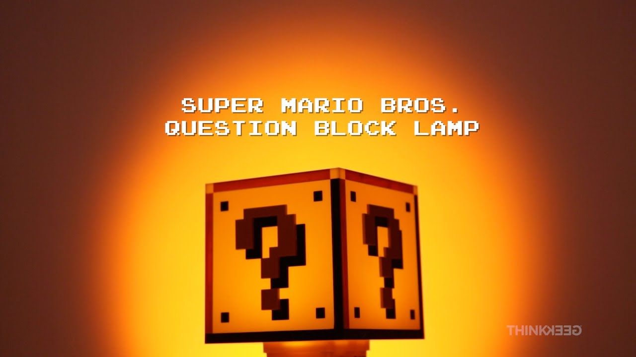 Super Mario Bros Question Block Lamp from ThinkGeek - YouTube