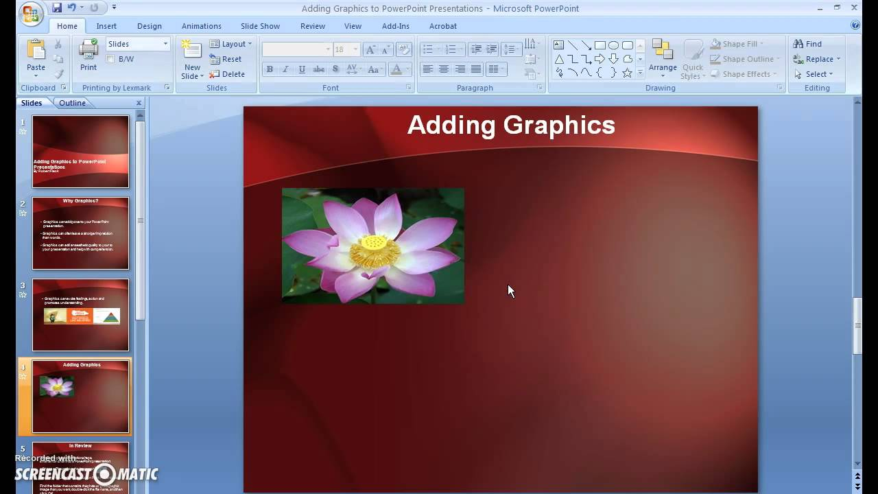 adding graphics to powerpoint presentations youtube