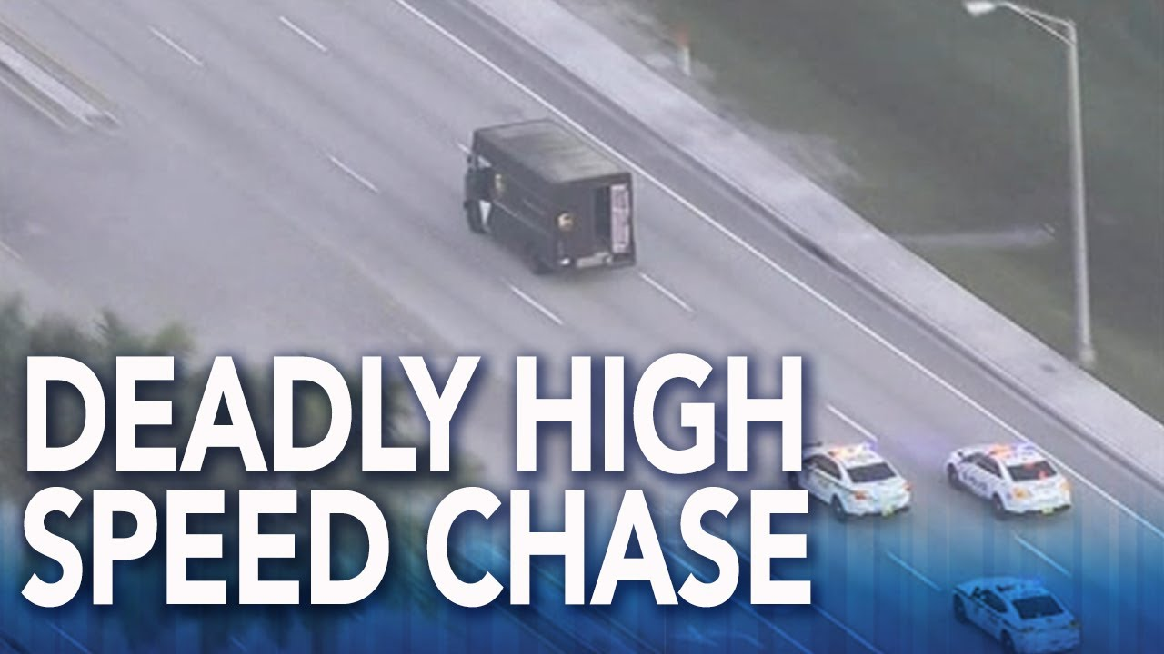 Chase with stolen UPS truck ends with shootout in South Florida, multiple fatalities